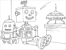 Small Picture Robot Coloring Pages Online For Kid Printable Robot Coloring Pages