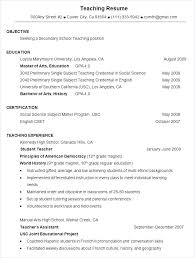 Free Sample Resume For Teachers Resume Template For Teacher Free ...