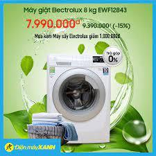Điện máy XANH (dienmayxanh.com) - 🔰Máy giặt Electrolux 8 kg EWF12843 🌈Giá  sốc cuối tuần: 7.990.000 ₫ 🌈Giá thường: 9.390.000 ₫ (-15%) 🌟ƯU ĐÃI: Mua  kèm Máy sấy Electrolux giảm 1,000,000đ 👉MUA