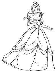 Beauty And The Beast Coloring Pages Belle Coloring Pages Beauty And