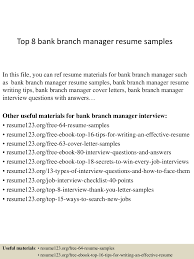 Top8bankbranchmanagerresumesamples 150331210046 Conversion Gate01 Thumbnail 4 Jpg Cb 1427853690
