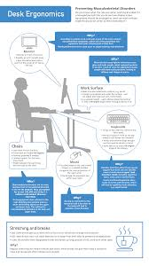 desk ergonomics and dse awareness infographic from high sd training