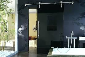 black glass door contemporary barn doors tall cabinet black glass door