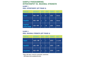 Nasm One Rep Max Chart Built To Order Strength And Size Require Different Approaches