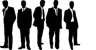 Image result for silhouette of a group of men