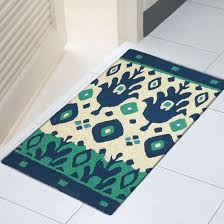 picture of blue green ikat 21