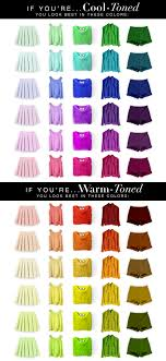 Warm Colour Chart Cool Tone And Warm Tone Colour Chart Pamper My