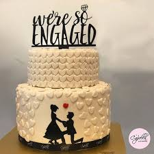 Customized Engagement Cake Picture Of Capella Patisserie