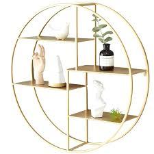 rose gold wall shelf