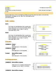 What Is A Combination Resume Combination Cv Templates Resume Templates
