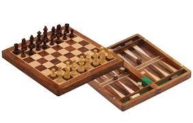 "Wooden Game Pieces Bulk Combo Plays Handmade 100"" Wood Backgammon Chess Folding Board 23"
