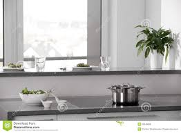 Black And White Modern Kitchen Modern Kitchen In A Black And White Stock Image Image 25702111