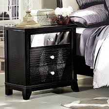 charming decoration black mirrored furniture nice design tall nightstand cheap with five drawers for