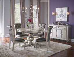 hefner silver 5 piece dining set