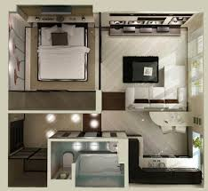 small apartments with bedroom plans
