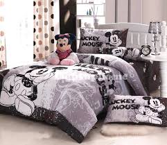 mickey mouse bedding set full grey mickey mouse bedding fitted sheet and comforter cover mickey mouse
