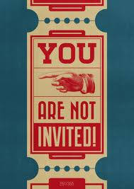 Image result for not invited