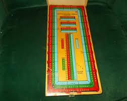 Vintage Wooden Board Games Cardinal cribbage Etsy 30