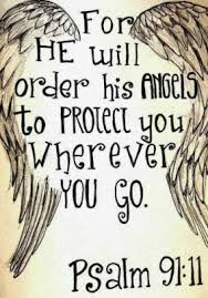 For He Will Order His Angels To Protect You Wherever You Go Graph Paper 1 2