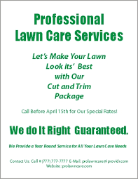 Lawn Care Flyer Template Word Lawn Care Flyer Template For Word Lawn Mowing Flyer Coastal Flyers