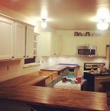 installing butcher block countertops and farm sink