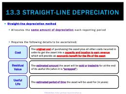 Straight Line Method For Depreciation 13 3 Straight Line Depreciation