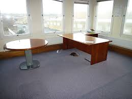 picture of used executive desks in cherry finish