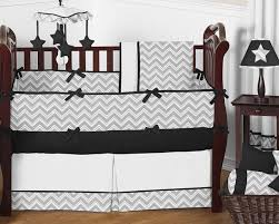 gray and black chevron zig zag baby bedding 9pc crib set by sweet jojo designs only 189 99