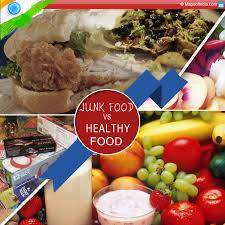 Healthy Vs Unhealthy Food Chart Junk Food Vs Healthy Food My India