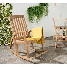 clayton teak wood outdoor rocking chair