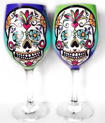 Wine Glass Decorating Designs Custom Painted Wine Glasses Drinking Wine Never Looked So Good 19