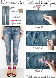 Diy Ripped Jeans Ideas