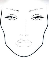 Blank Face Templates Magnificent Printable Face Template Unusual Templates For Makeup Images Example