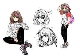 Unique Anime Character Design Artstation Anime Girl Character Design For Visual Novel