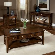 living room coffee table sets best classic furniture design brown lacquered rectangle wooden lower shelf drawers