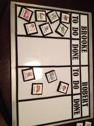 Very Simple Diy Chore Chart I Used A Dry Erase Board