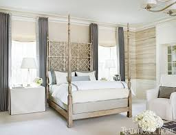 neutral and gold bedroom interiors by