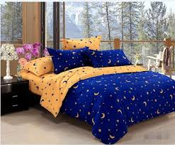 blue and yellow bedding. Plain And Aa Home TextilesBlue  Yellow Star Moon Bedding Sets Include Comforter  Cover Bed Sheet PillowcaseLinenBedclothesComforter King Turquoise  On Blue And O