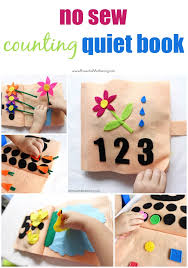 no sew counting and numbers quiet book part 1