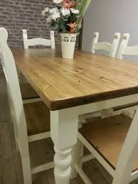 Pine Kitchen Tables And Chairs Shabby Chic Solid Pine Farmhouse Dining Table Chairs And Bench