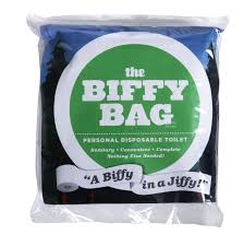 Disposable Toilet Biffy Bag Pocket Size Disposable Toilet Classic Camping Discounts