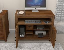 hidden home office. mayan walnut hidden home office