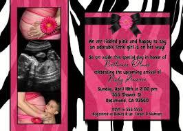 Pink Zebra Baby Shower Ideas  CimvitationPink Zebra Baby Shower Invitations