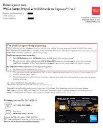 Maybe you would like to learn more about one of these? Wells Fargo Propel World Credit Card Welcome Letter 1 Travel With Grant