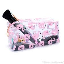 whole pvc flamingo makeup bags cosmetic storage bag travel fashion pouch custom whole bags small cosmetic bag canada 2019 from winnie