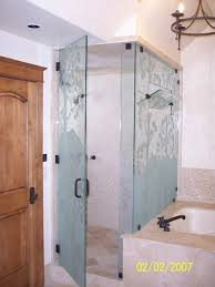 etched euro shower door