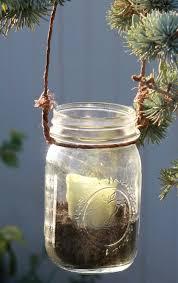 Hanging Mason Jar Candle Lantern