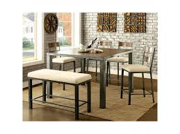 jazlyn ii contemporary weathered oak counter height table set