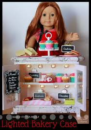 american girl doll lighted bakery case for 18 inch dolls