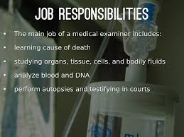 Medical Examiner Job Description Medical Examiner by emilyparson 1
